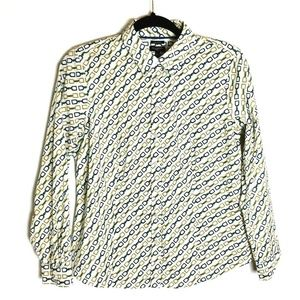 Tabots 10P Wrinkle Resistant Equestrian Print Top